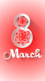 March 8 International Women Day Greeting Card. Vector Illustration vector illustration