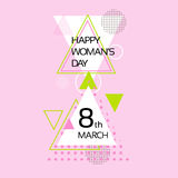 March International Women Day Greeting Card. 8 March International Women Day Greeting Card Vector Illustration Royalty Free Stock Images