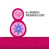 March International Women Day Greeting Card Stock Photos