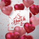 8 March. International Women Day. Stock Photo
