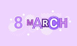 8 March International Women Day Web Banner Abstract Creative Template Background. Vector Illustration Royalty Free Stock Photo