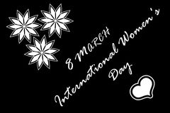 8 March International Women`s Day. Women`s Day, 8 March International Women`s Day Royalty Free Stock Photography