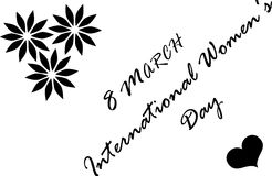 8 March International Women`s Day. Women`s Day, 8 March International Women`s Day Royalty Free Stock Photos