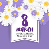 8 March International Women`s Day Background Royalty Free Stock Image