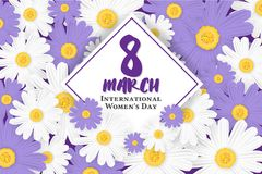 8 March International Women`s Day Background Stock Image