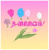 8 March stock illustration