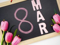 8 march international women's day stock image