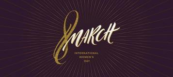 8 March International women`s day illustration. stock image