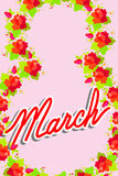 8 March. International women's day. Greeting card congratulation Royalty Free Stock Photography