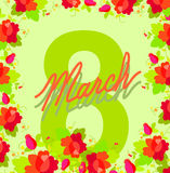 8 March. International women's day. Royalty Free Stock Images