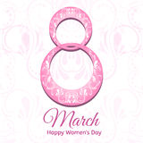 8 March , International Women`s Day,greeting card design. Stock Photography