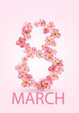 8 March International Women's Day greeting card Royalty Free Stock Photos