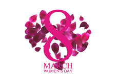 8 March International Women's Day greeting card Royalty Free Stock Photo