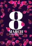 8 March International Women's Day greeting card Stock Photography
