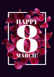 8 March International Women's Day greeting card Royalty Free Stock Images