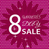 8 March International Women`s Day. Greeting card. SALE EPS10  illustration Royalty Free Stock Photography