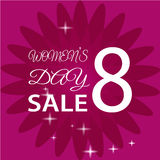 8 March International Women`s Day. Greeting card. SALE EPS10  illustration Royalty Free Stock Photos