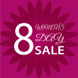 8 March International Women`s Day. Greeting card. SALE EPS10  illustration Stock Photo