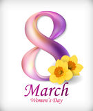 8 March International Women`s Day. Greeting card Stock Images
