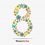 March 8. International Women's Day. Greeting card for your design stock illustration