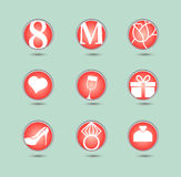 8 March, international womens day, icon. 8 March, icon set, international womens day royalty free illustration