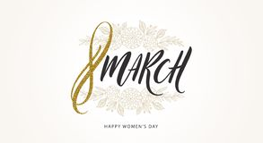 8 March International women`s day illustration. royalty free stock photography
