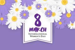 8 March International Women`s Day Background Stock Photos