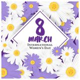 8 March International Women`s Day Background Royalty Free Stock Images