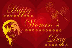 8 March International Women`s Day. Woman and flower, 8 March International Women`s Day Stock Image