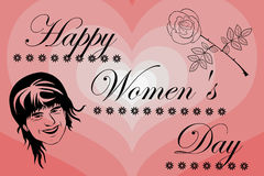 8 March International Women`s Day. Woman and flower, 8 March International Women`s Day Stock Photo