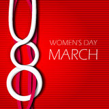 8 march international womens day. Design vector illustration celebratory Women's Day Stock Photos