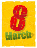 8 March. International womens day. Greeting card to celebrate wo Stock Photography