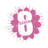 8 March. International womens day. Spring Festival. Burgundy flo Stock Photos