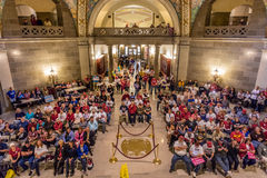 MARCH 4, 2017 - JEFFERSON CITY - President Trump Supporters Hold Rally, Jefferson City, State Capitol of Missouri Royalty Free Stock Photos