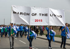 March of the Living in german Concentration Camp in Auschwitz Stock Images