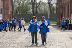 March of the Living in german Concentration Camp in Auschwitz Stock Image
