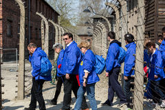 March of the Living in german Concentration Camp in Auschwitz Royalty Free Stock Images
