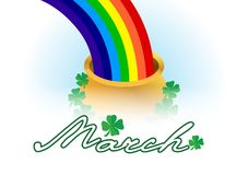 March lucky rainbow Stock Photo