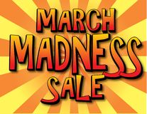 March Madness Sale Poster Banner. March Madness Sale Bold Colors Poster or Banner Stock Images