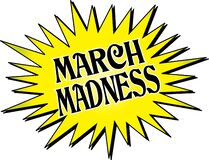 Free March Madness Yellow Starburst Royalty Free Stock Photography - 170149477