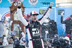 NASCAR: March 26 STP 500. March 26, 2018 - Martinsville, Virginia, USA: Clint Bowyer 14 wins the STP 500 at Martinsville Speedway in Martinsville, Virginia stock photos