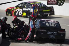NASCAR: March 26 STP 500. March 26, 2018 - Martinsville, Virginia, USA: Kurt Busch 41 makes a pit stop during the STP 500 at Martinsville Speedway in royalty free stock photos