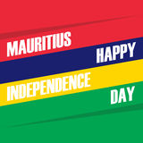12 march Mauritius Happy Independence Day celebration card. Vector illustration Royalty Free Stock Photography