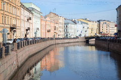 March morning on the Moika river. Saint Petersburg Stock Photography