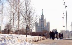 View of Vysotka on Kotelnicheskaya Embankment Royalty Free Stock Photos