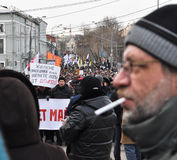 March in Moscow 02.02.2014 in support of political prisoners. Stock Images