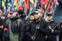 March of National Dignity in Kyiv Royalty Free Stock Images