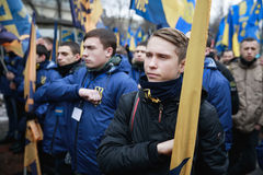 March of National Dignity in Kyiv Royalty Free Stock Photo