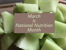 National nutrition month. March is National nutrition month Royalty Free Stock Image
