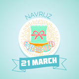 21 March Navruz vector illustration